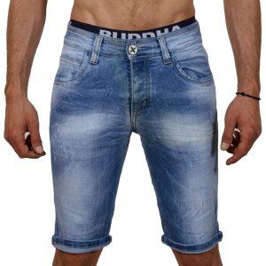 Jean Βερμούδα DAMAGED Jeans DMB1 Μπλε