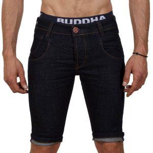 Jean Βερμούδα DAMAGED Jeans DMB2 σκούρο Μπλε