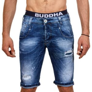 Jean Βερμούδα DAMAGED Jeans DMB2A Μπλε