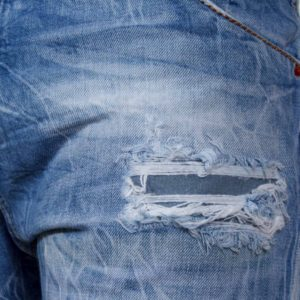 Jean Βερμούδα DAMAGED Jeans DMB3 Μπλε