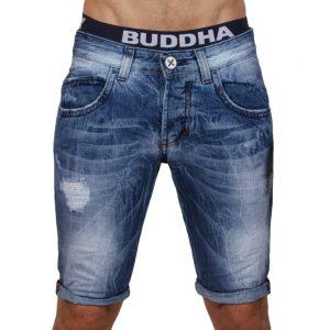 Jean Βερμούδα DAMAGED Jeans DMB5 Μπλε