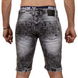 Jean Βερμούδα DAMAGED Jeans DMB6 Μαύρο
