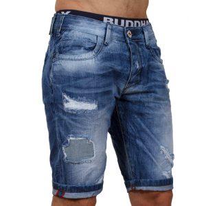 Jean Βερμούδα DAMAGED Jeans DMB7 Μπλε