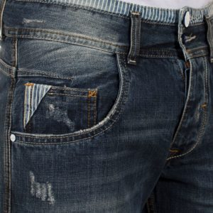 Jean Βερμούδα COVER Jeans VGear 5796 σκούρο Μπλε