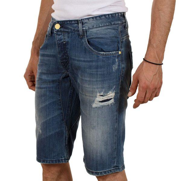 Jean Βερμούδα COVER Jeans VToxic 5799 Μπλε
