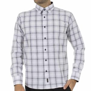 Καρό Μακρυμάνικο Πουκάμισο CND Shirts 1400-9 Λευκό