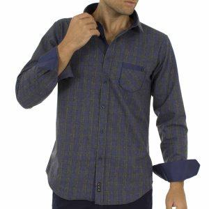 Καρό Πουκάμισο Φανέλα CND Shirts 850-3 σκούρο Γκρι