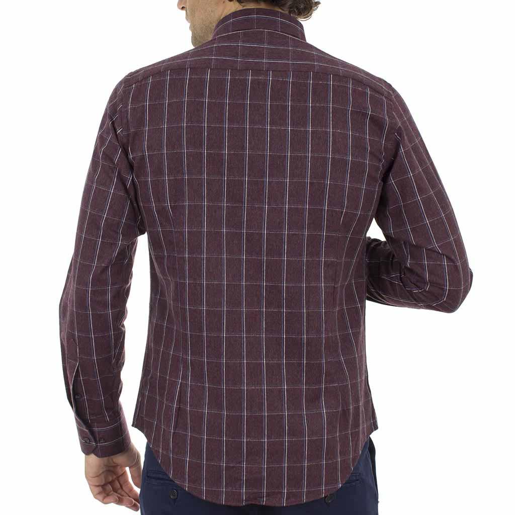 d047d94247dd Καρό Πουκάμισο Φανέλα CND Shirts 850-6 Μπορντώ