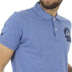 Κοντομάνικο Μπλούζακι με Γιακά Polo FUNKY BUDDHA FBM005-11118 Μπλε