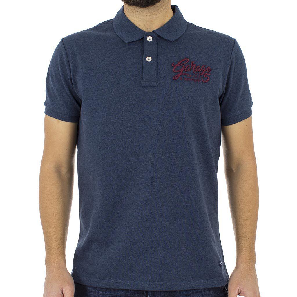 Κοντομάνικο Μπλούζακι με Γιακά Polo Garage55 GAM205-11118 Indigo