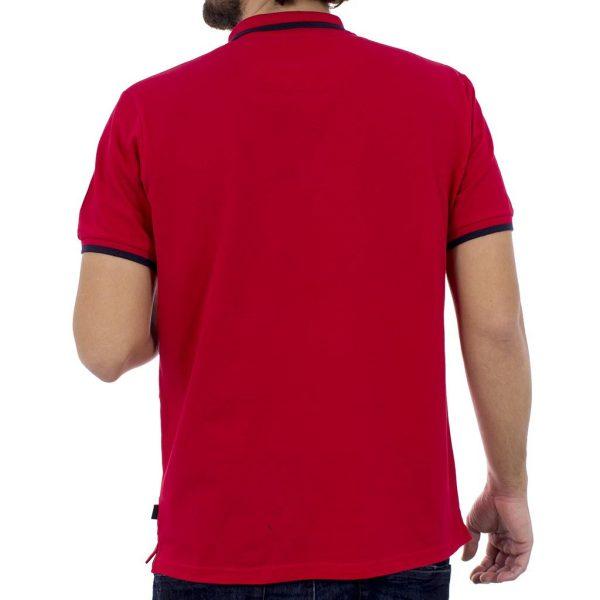 Kοντομάνικο Μπλούζακι με Γιακά Polo SANTANA SS18-1-65 Κόκκινο