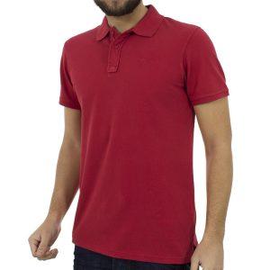 Κοντομάνικη Μπλούζα με Γιακά Polo BLEND Poloshirt 20704970 Κόκκινο