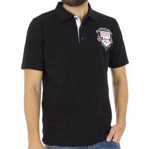 Κοντομάνικο Μπλούζακι με Γιακά Polo CARAG 99-550-18N Μαύρο