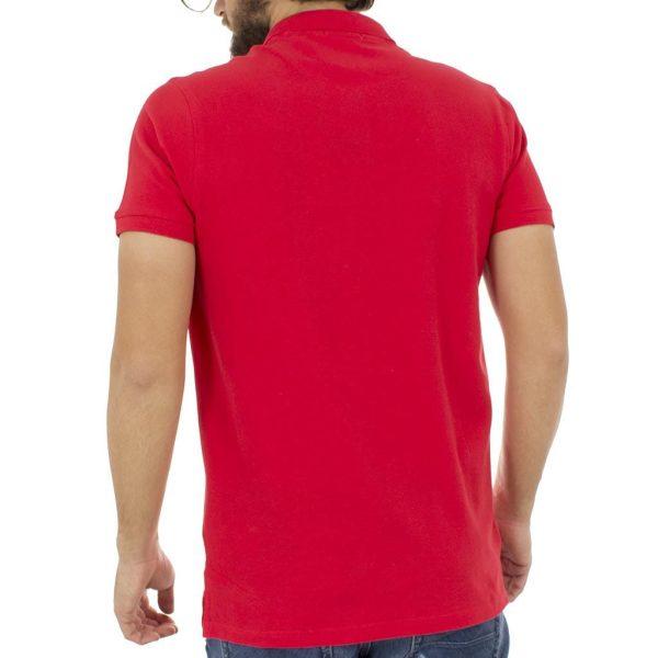 Κοντομάνικο Μπλούζακι με Γιακά Polo Garage55 GAM200-11118 Κόκκινο