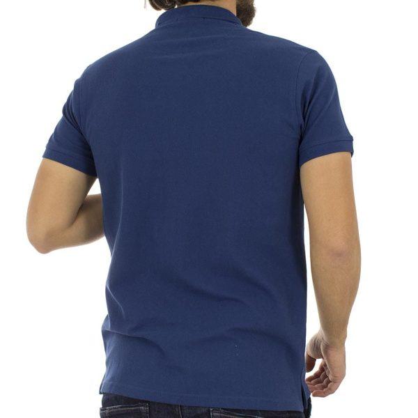 Κοντομάνικο Μπλούζακι με Γιακά Polo Garage55 GAM200-11118 Μπλε ρουά