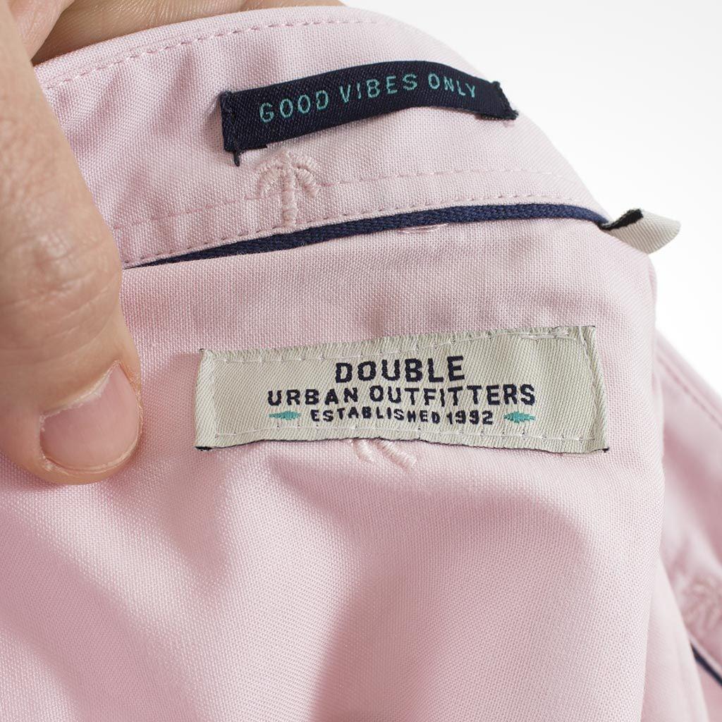 5b60e8b53ab2 Κοντομάνικο Πουκάμισο Slim Fit Aloha Oxford Shirt DOUBLE GS-463S ανοιχτό Ροζ