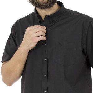 Κοντομάνικο Πουκάμισο Regular Fit DOUBLE GS-8S Μαύρο