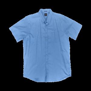 Κοντομάνικο Πουκάμισο Regular Fit DOUBLE GS-8S ανοιχτό Μπλε