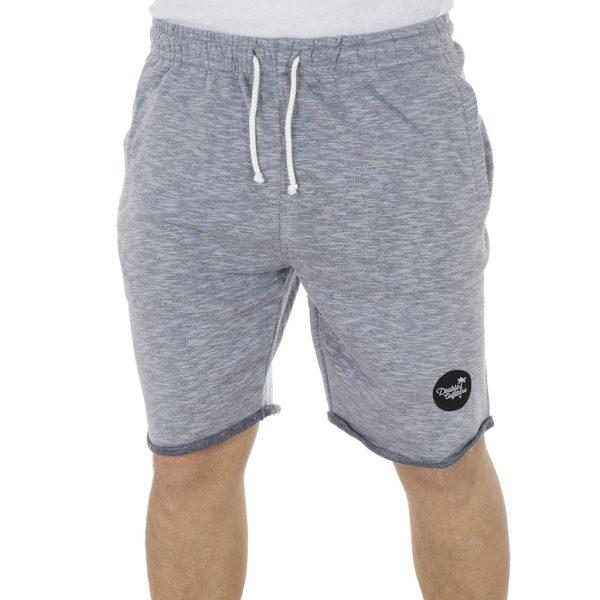 Μακό Βερμούδα DOUBLE Terry Fleece Melange Shorts MS-12 Indigo