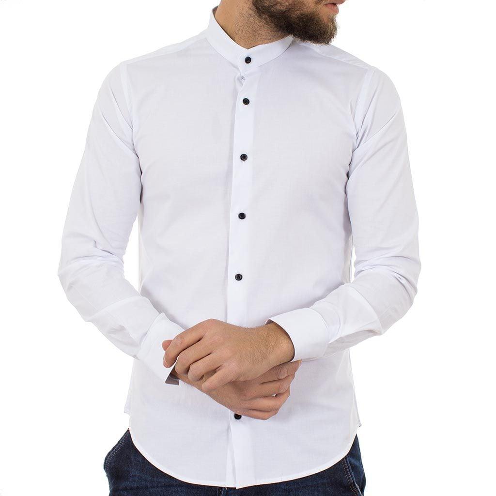 Μάο Μακρυμάνικο Πουκάμισο Slim Fit ENDESON FASHION 1050 Λευκό