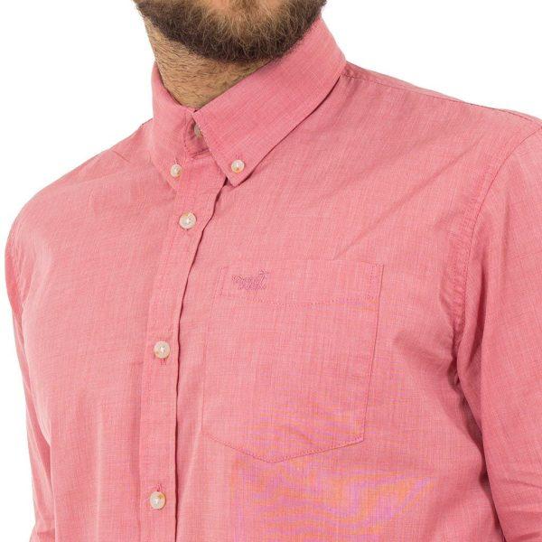 Μακρυμάνικο Πουκάμισο Regular Fit Button Down Shirt DOUBLE GS-462 Ροζ