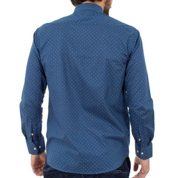 Μακρυμάνικο Πουκάμισο Regular Fit Oxford Shirt DOUBLE GS-464 Μπλε