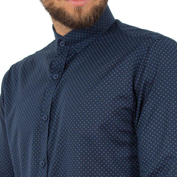 Μακρυμάνικο Πουκάμισο Regular Fit Oxford Shirt DOUBLE GS-464 Navy