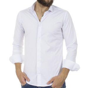 Μακρυμάνικο Πουκάμισο Slim Fit ENDESON FASHION 125 Λευκό