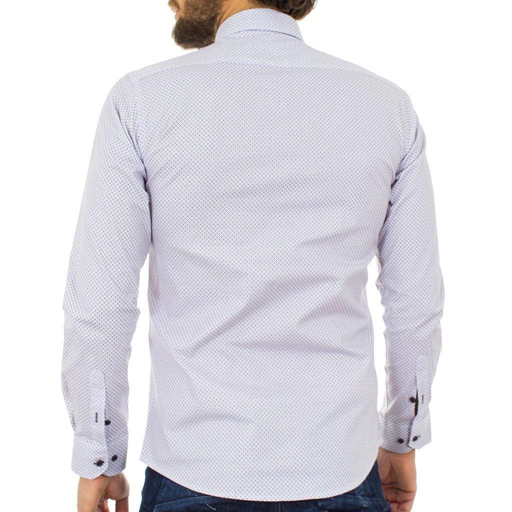 Μακρυμάνικο Πουκάμισο Slim Fit ENDESON FASHION 3005 Λευκό