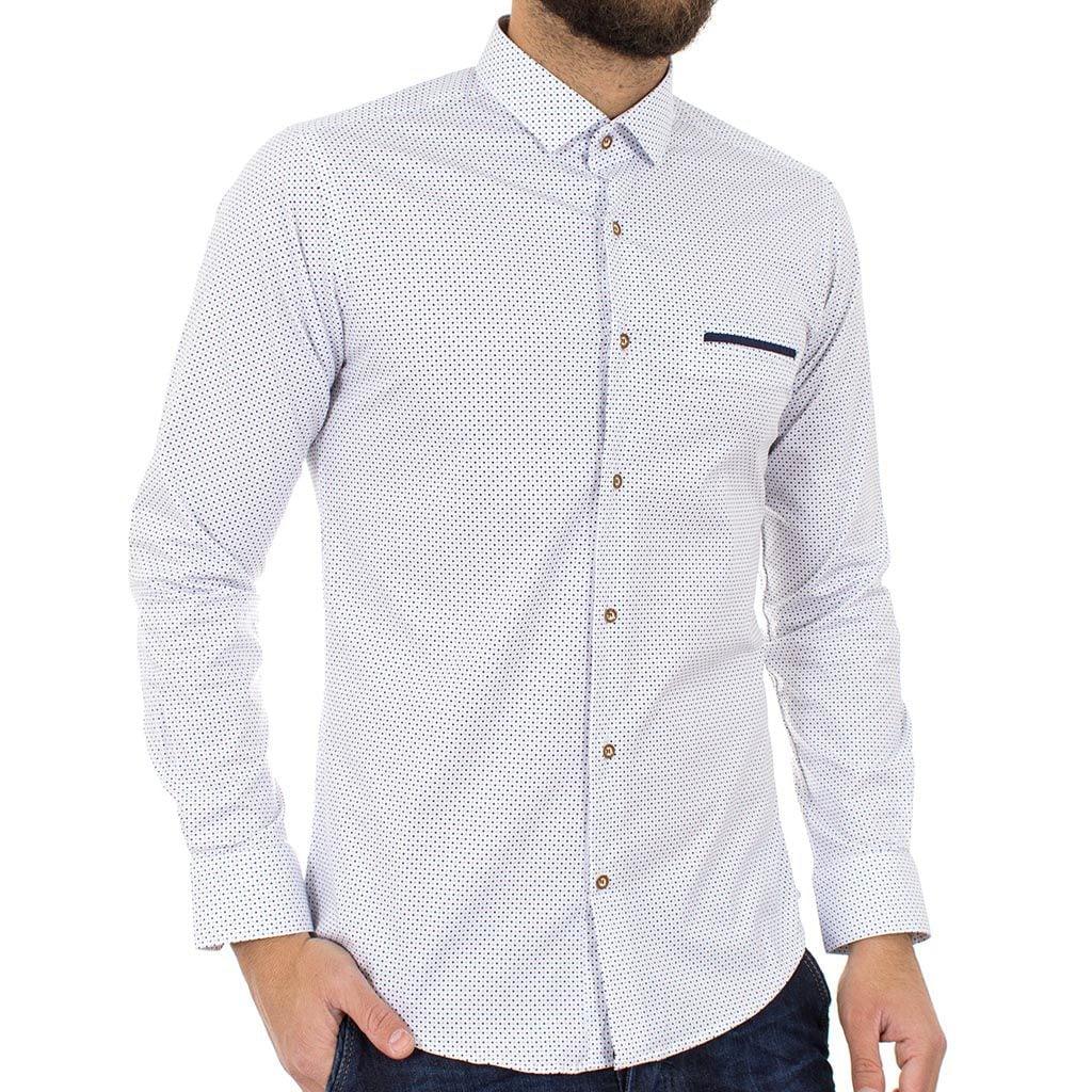 Μακρυμάνικο Πουκάμισο Slim Fit ENDESON FASHION 3020 Λευκό  5d844638067