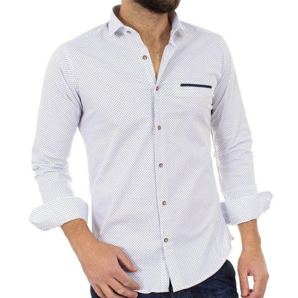 Μακρυμάνικο Πουκάμισο Slim Fit ENDESON FASHION 3020 Λευκό