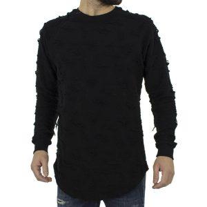 Μακρυμάνικη Μπλούζα Φούτερ MESH&CO Μαύρο