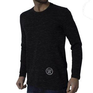 Μακρυμάνικη Μπλούζα HASHTAG PERFECT W18074 Μαύρο
