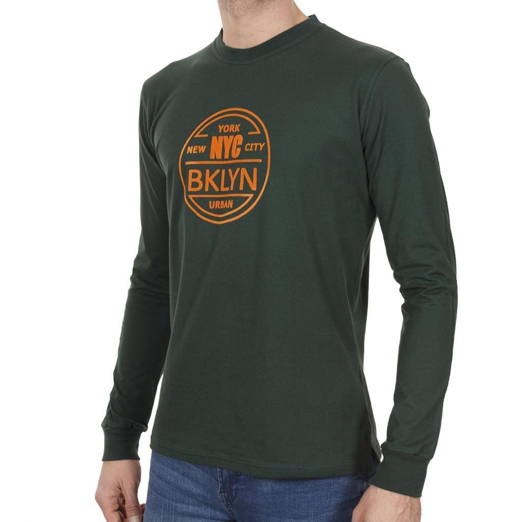 Mακρυμάνικη Μπλούζα START CARAG 66-266-18N Πράσινο