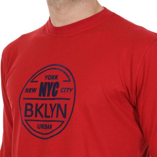 Mακρυμάνικη Μπλούζα START CARAG 66-266-18N Κόκκινο