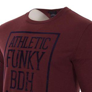 Μακρυμάνικη Μπλούζα FUNKY BUDDHA FBM013-07217 Κόκκινο