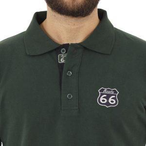 Μακρυμάνικη Μπλούζα με Γιακά POLO START CARAG 66-566-17N Πράσινο Pesto