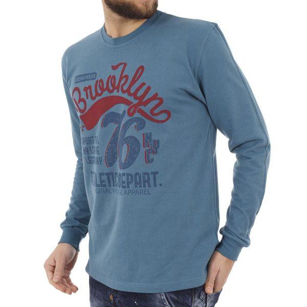 Μακρυμάνικη Μπλούζα START CARAG 66-266-17N Γαλάζιο