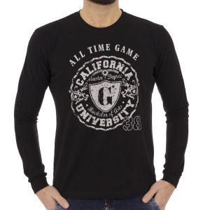 Μακρυμάνικη Μπλούζα START CARAG 66-266-17N Μαύρο