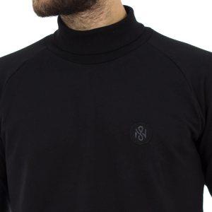 Μακρυμάνικη Μπλούζα Ζιβάγκο Mesh&Co 05-267-05-211 Μαύρο