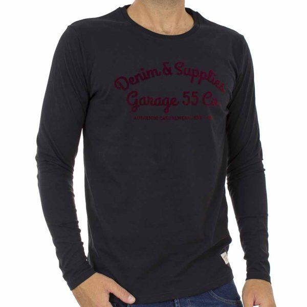 Μακρυμάνικη Μπλούζα Garage55 GAM210-07218 Μαύρο