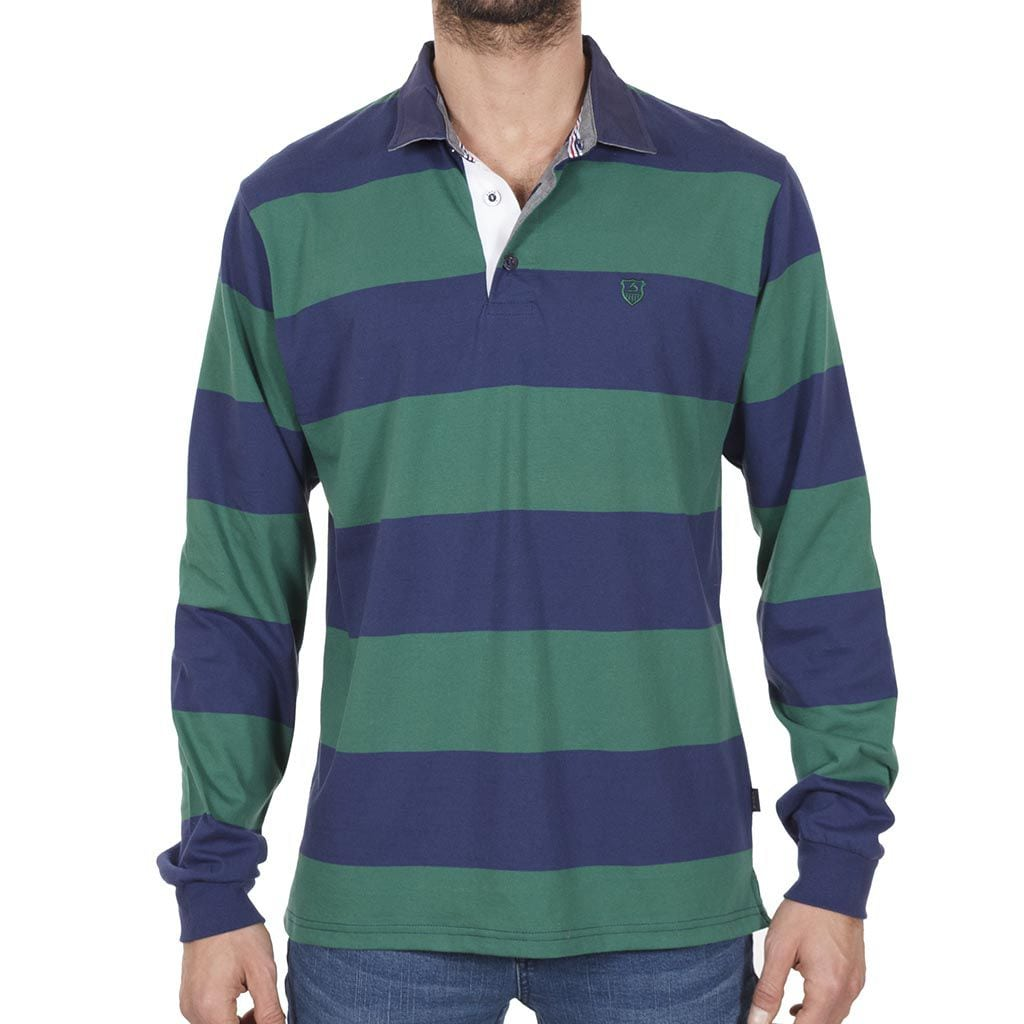 Μακρυμάνικη Μπλούζα με Γιακά POLO SANTANA SW16-1-100 Ριγέ