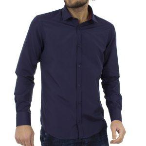 Μακρυμάνικο Πουκάμισο Slim Fit MASTER TAILOR 801SH503-34 Μπλε