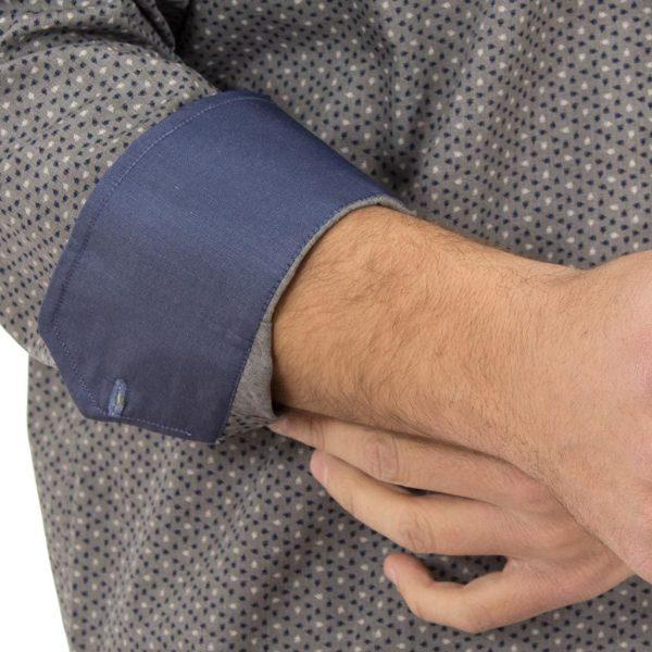 Μακρυμάνικο Πουκάμισο Regular Fit Canadian Shirts 2300-5 Γκρι