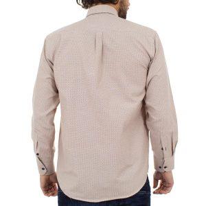 Μακρυμάνικο Πουκάμισο Regular Fit Canadian Shirts 2300-7 Εκρού