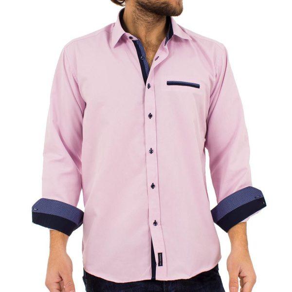 Μακρυμάνικο Πουκάμισο Regular Fit Canadian Shirts 2350-3 ανοικτό Ροζ