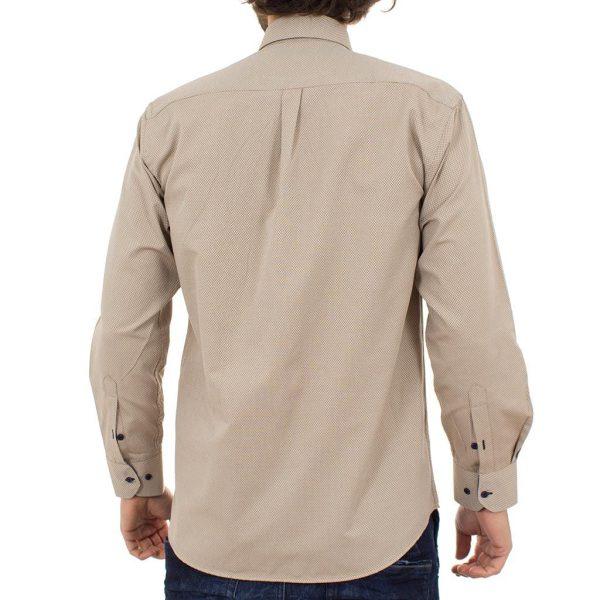 Μακρυμάνικο Πουκάμισο Regular Fit Canadian Shirts 2350-5 Εκρού