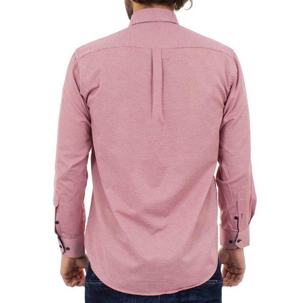 Μακρυμάνικο Πουκάμισο Regular Fit Canadian Shirts 2350-8 Κόκκινο