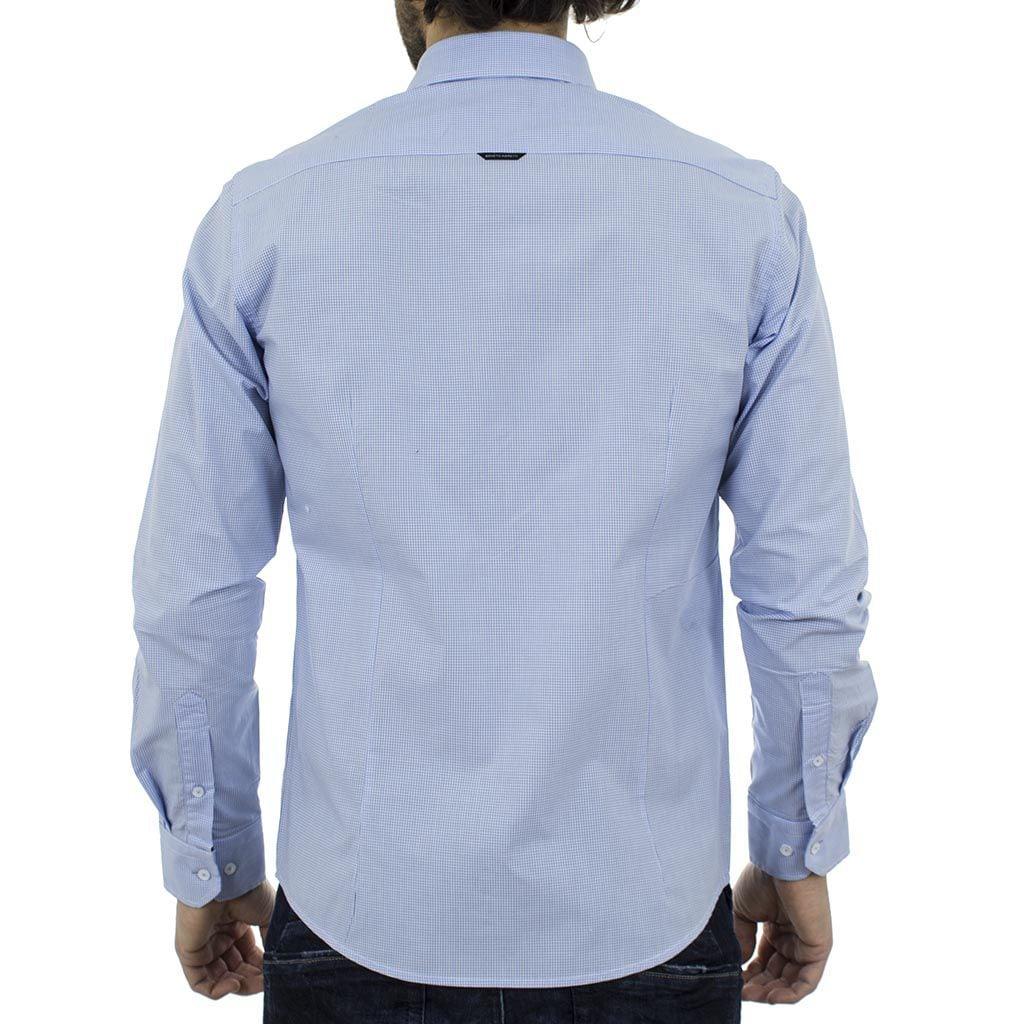Μακρυμάνικο Πουκάμισο Slim Fit BENETO MARETTI SS17SH60-111B Γαλάζιο ... 435b7cd0fbf