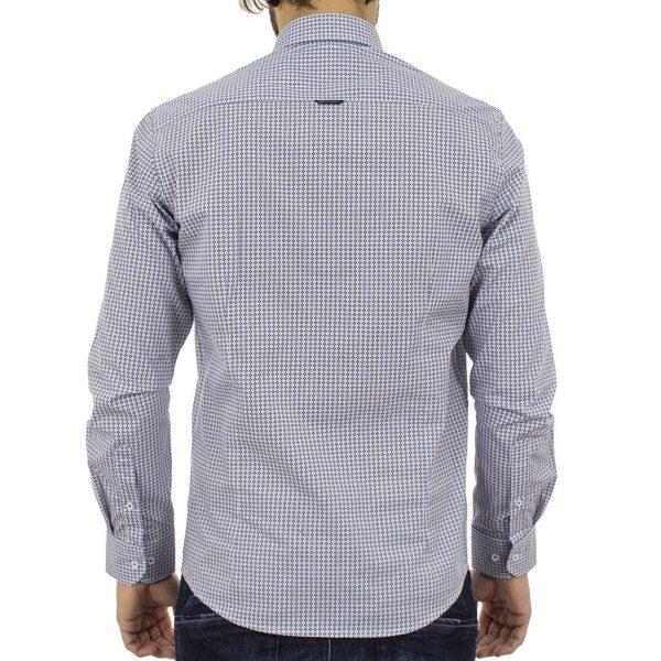 Μακρυμάνικο Πουκάμισο Slim Fit BENETO MARETTI S17SH60-202 Μπλε